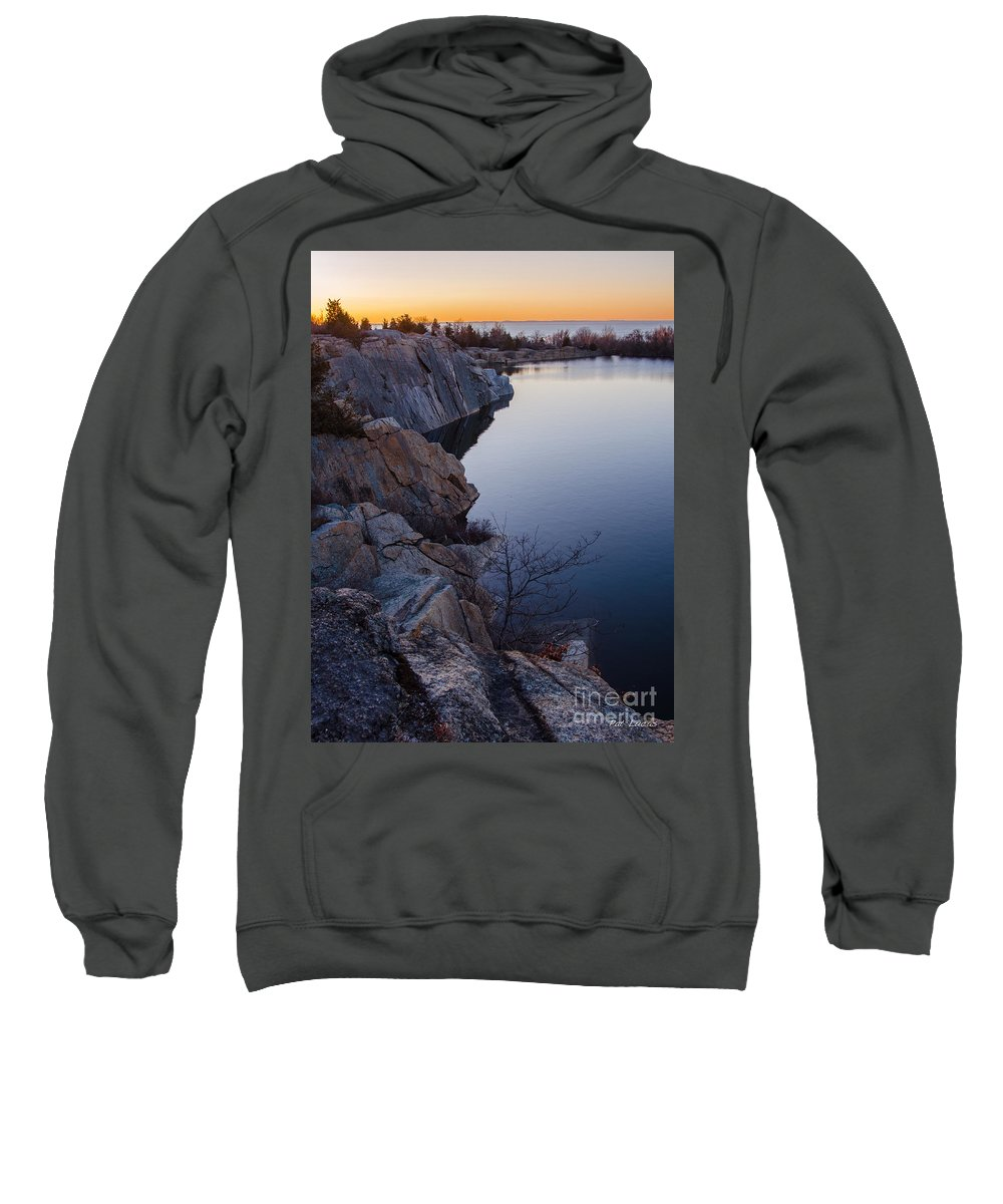 Reservoir Sweatshirt featuring the photograph Halibut Point In Rockport by Pat Lucas