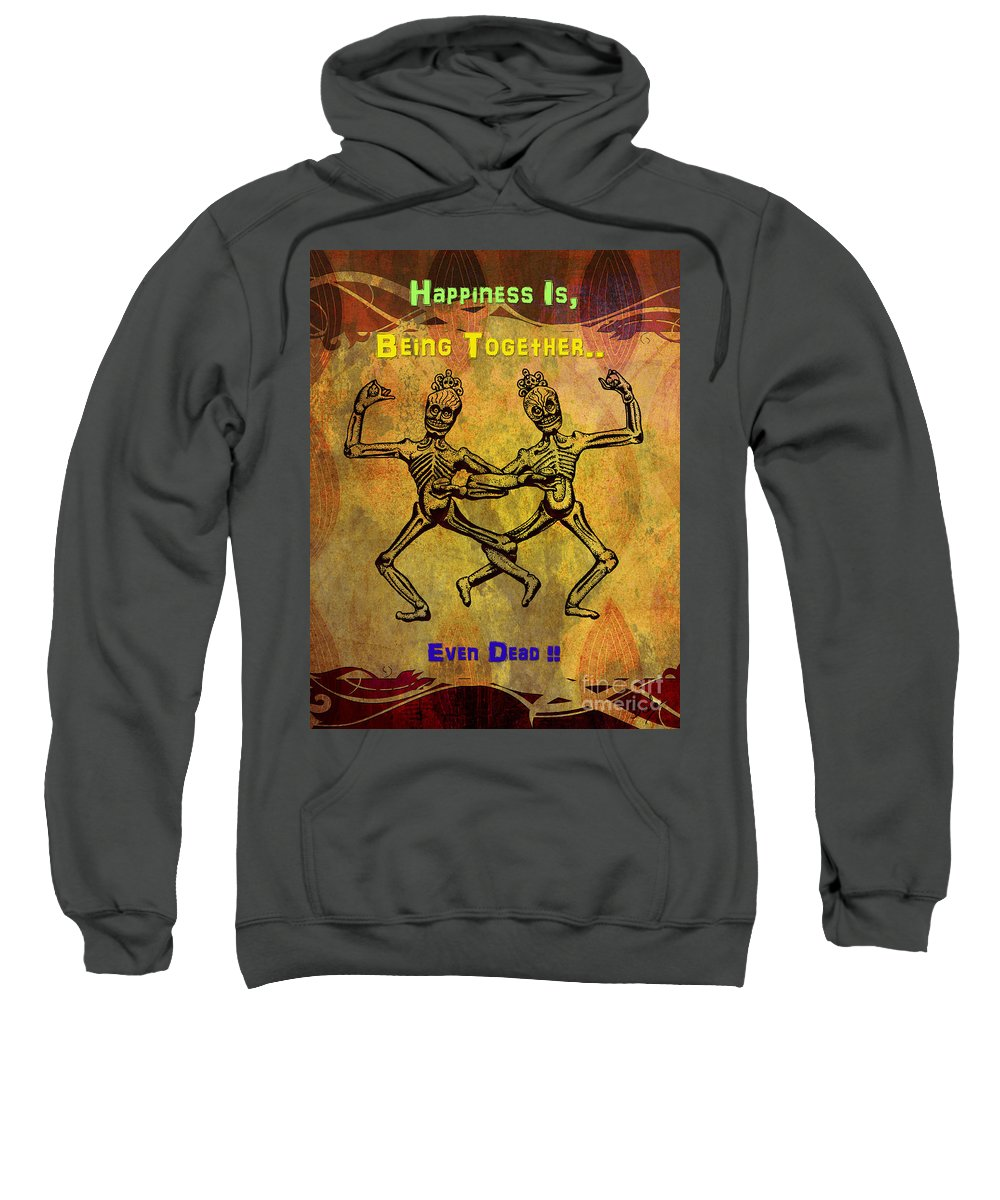 Poster Sweatshirt featuring the digital art Happiness Is.. by Peter Awax