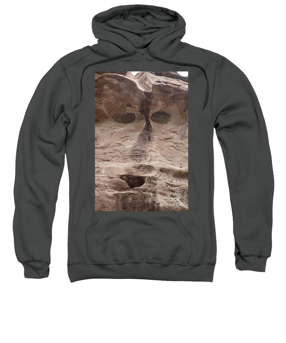 Rock Cliff Sweatshirt featuring the photograph Happy Cliff by Brandi Maher