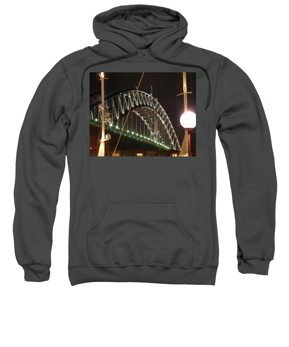 Harbor Bridge Sweatshirt featuring the photograph Harbor Bridge by Ellen Henneke