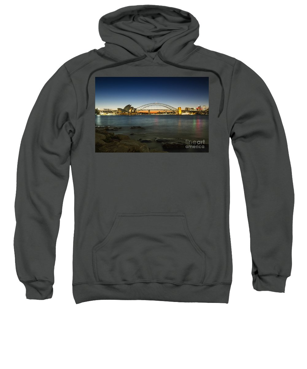 Sydney Sweatshirt featuring the photograph Harbour Night by Andrew Paranavitana