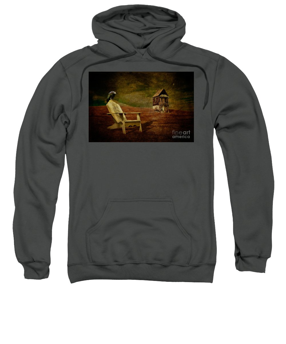 Hard Times Sweatshirt featuring the photograph Hard Times by Lois Bryan