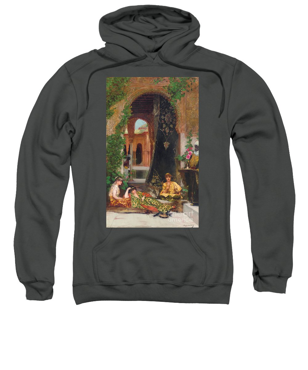 Constant Sweatshirt featuring the painting Harem Women by Jean Joseph Benjamin Constant