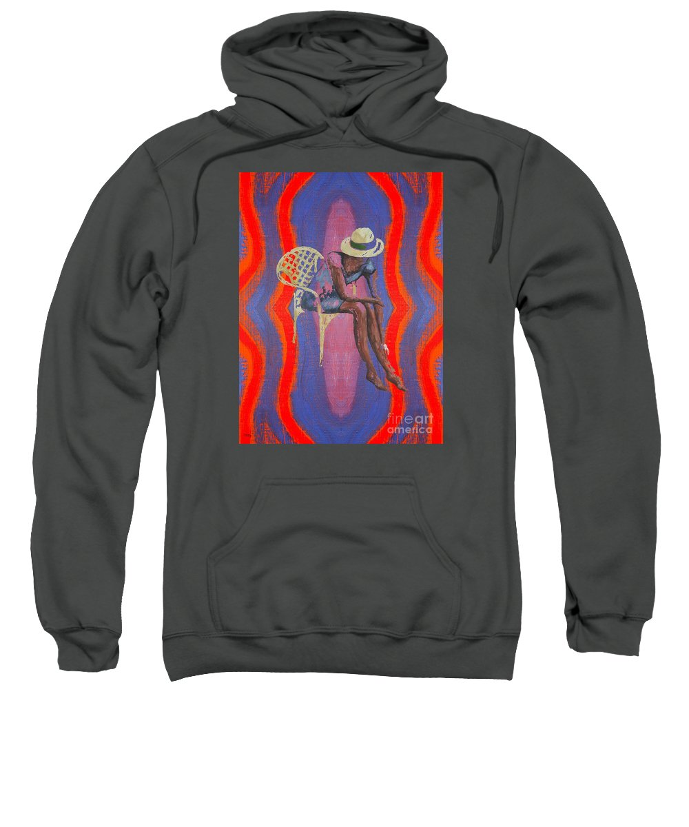 Hat Sweatshirt featuring the painting Hat 2 by Patrick J Murphy