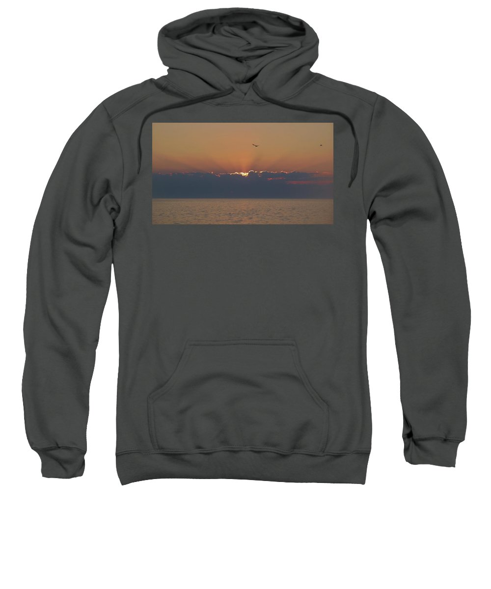 Mark Lemmon Cape Hatteras Nc The Outer Banks Photographer Subjects From Sunrise Sweatshirt featuring the photograph Hatteras Island Sunrise 1 10/4 by Mark Lemmon
