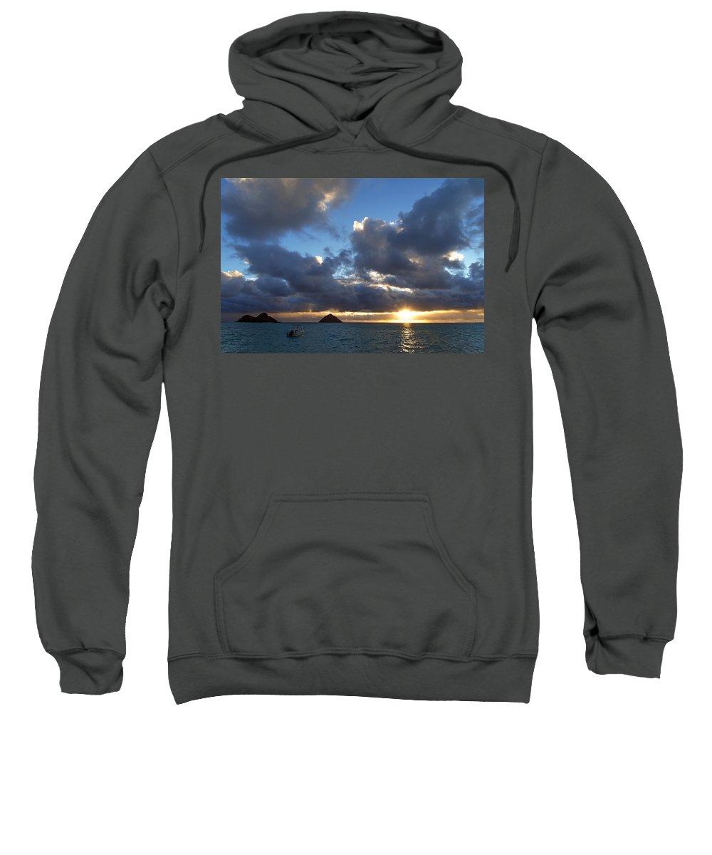 Hawaii Sweatshirt featuring the photograph Hawaii Sunrise by Dustin LeFevre