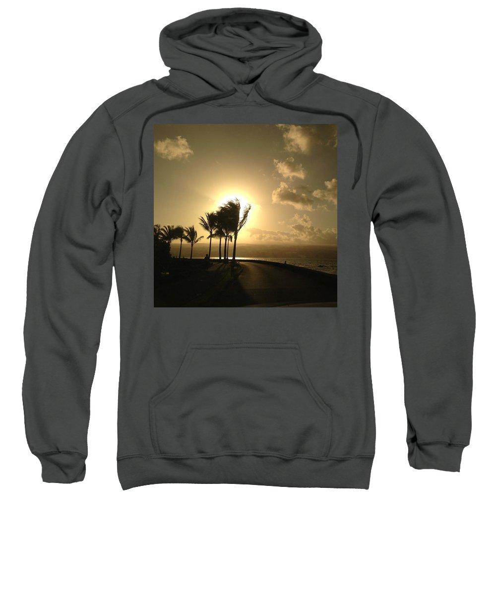 Hawaiian Landscape Sweatshirt featuring the digital art Hawaiian Landscape 8 by D Preble