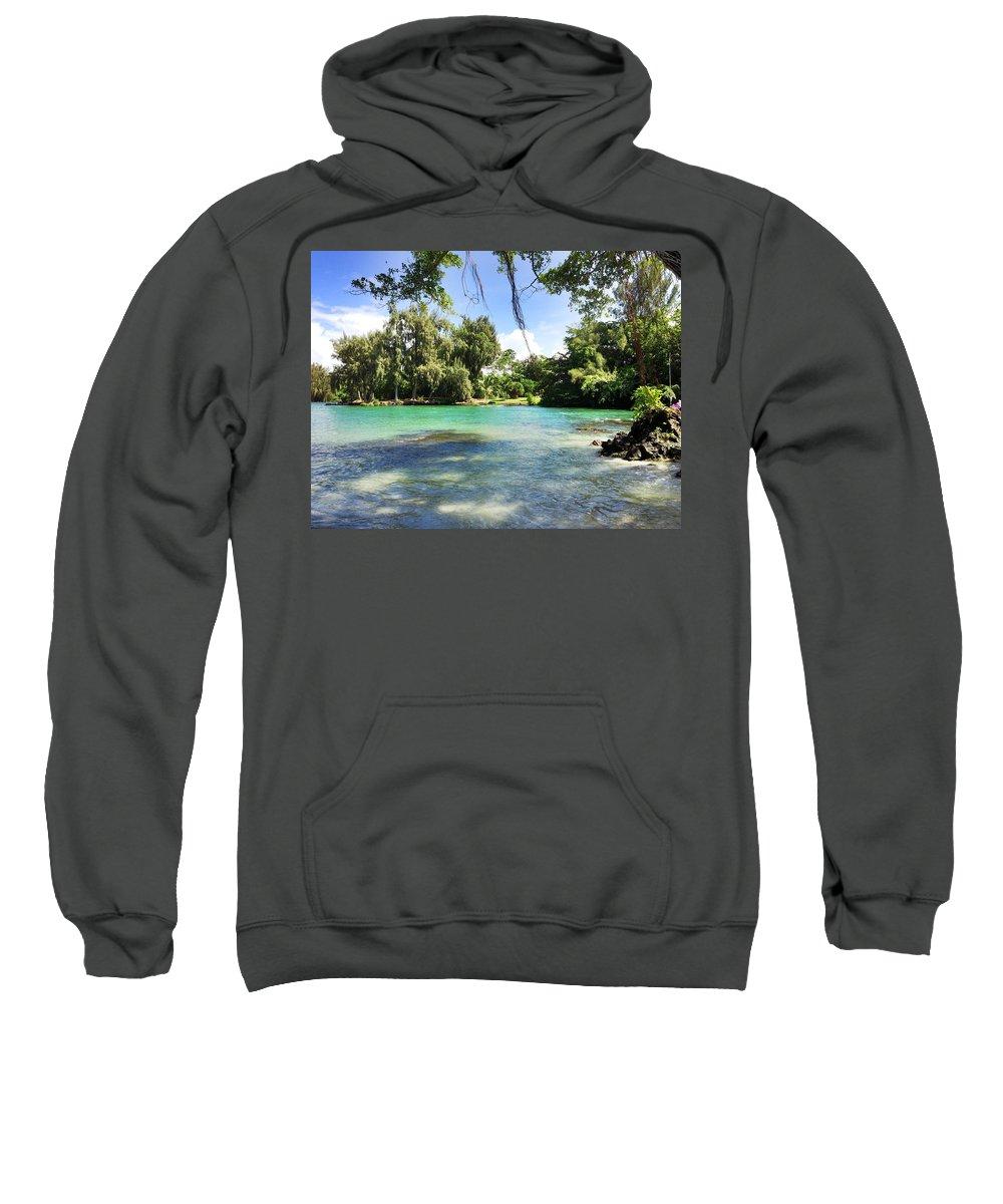 Hawaiian Landscape Sweatshirt featuring the digital art Hawaiian Landscape 4 by D Preble