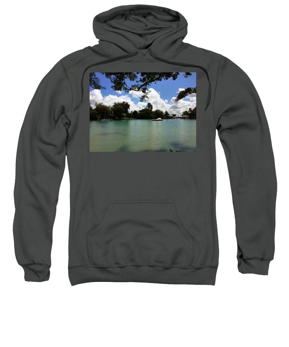 Hawaiian Landscape Sweatshirt featuring the digital art Hawaiian Landscape 2 by D Preble