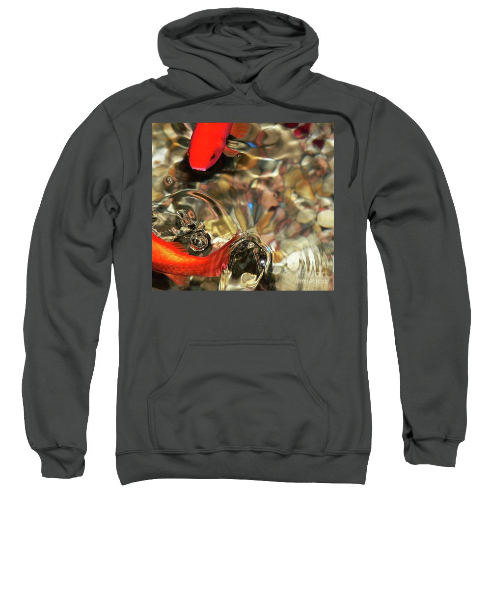 Koi Sweatshirt featuring the photograph Head Or Tails by Angela Wright