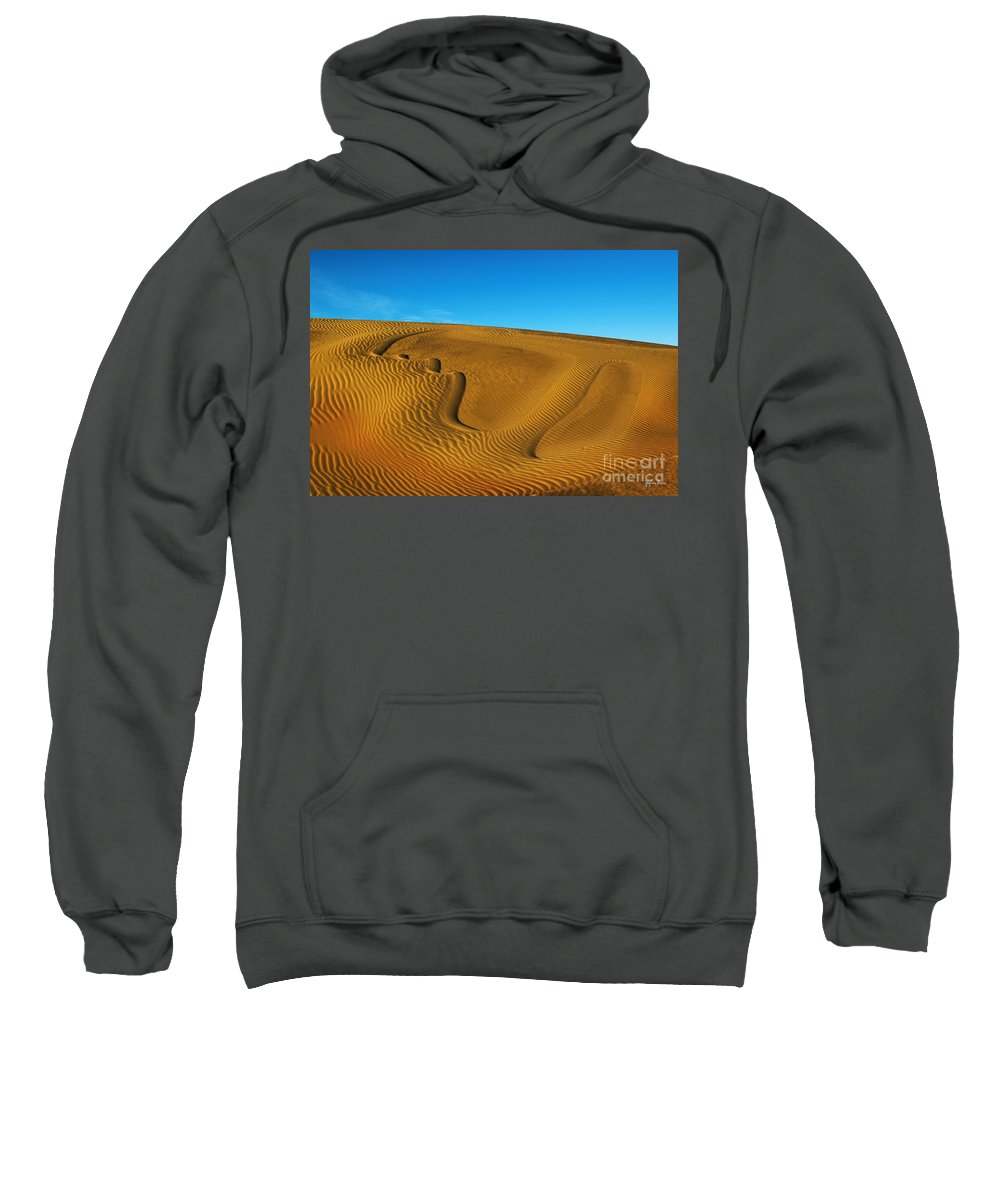 Heart On The Sand Sweatshirt featuring the photograph Heart In The Sand Dunes by Yefim Bam