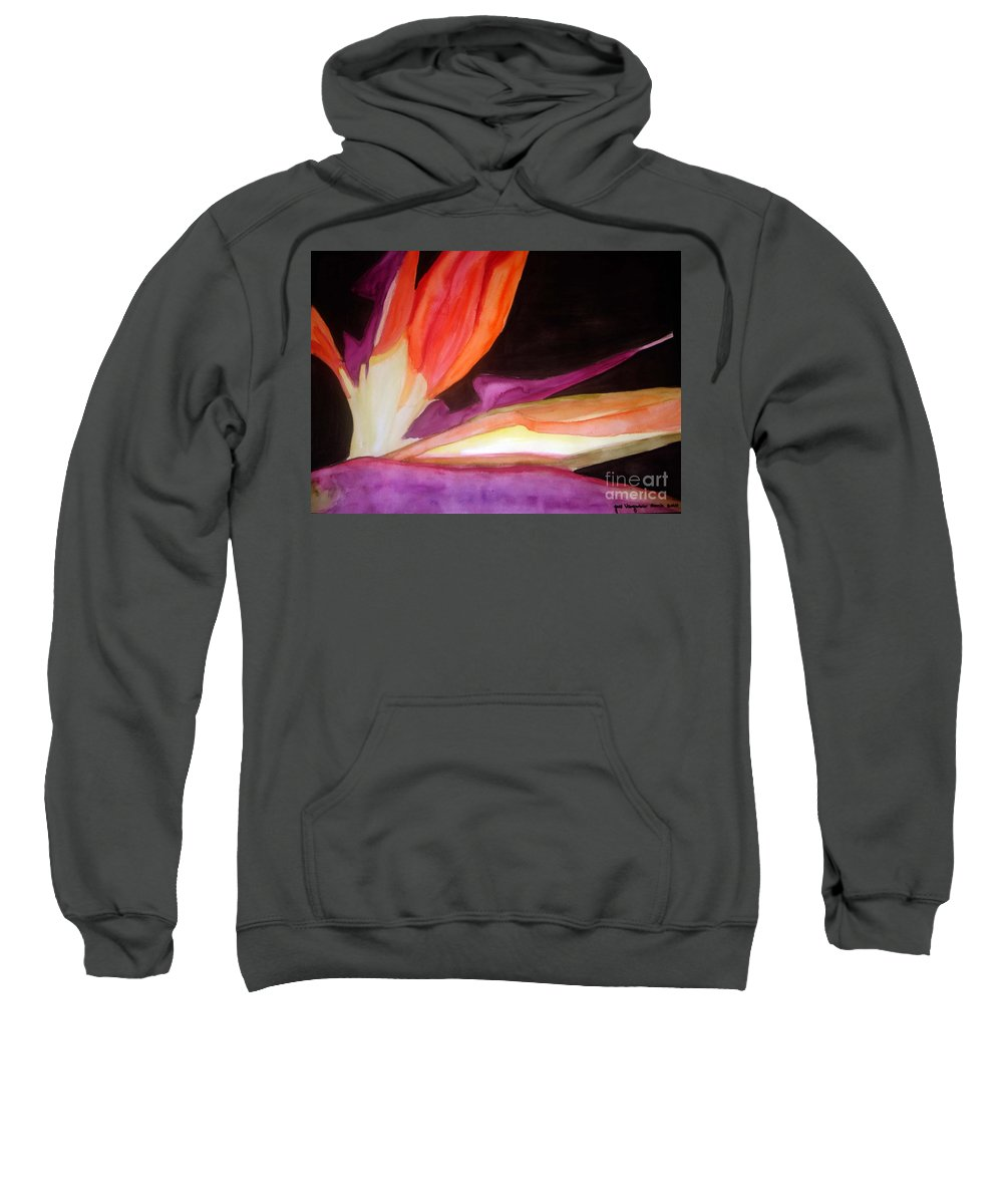 Water Color Flower Sweatshirt featuring the painting Heaven by Yael VanGruber