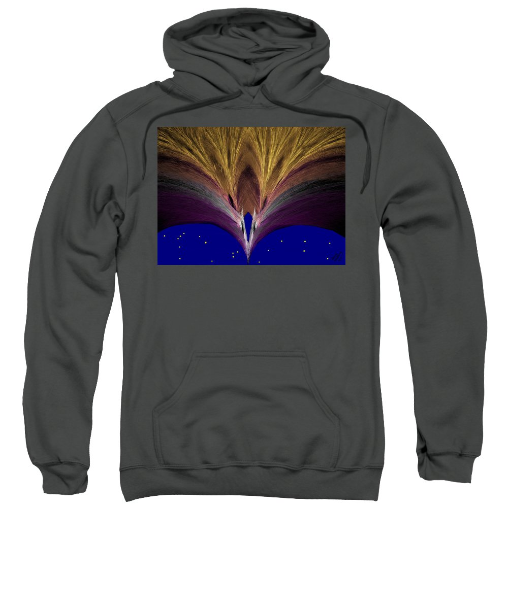 Gold Sweatshirt featuring the painting Heavenly Archway by Bruce Nutting