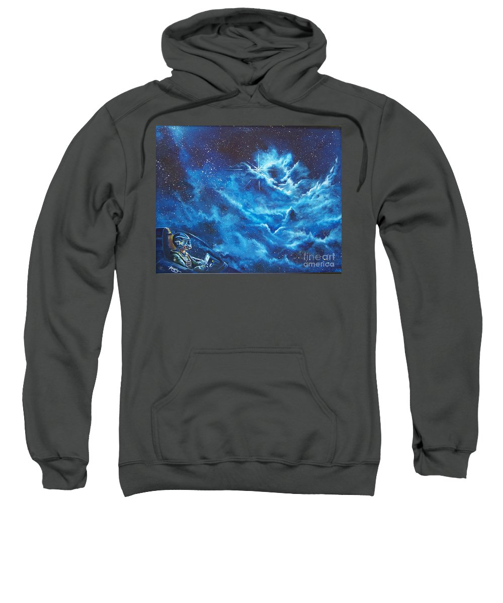 Astro Sweatshirt featuring the painting Heavens Gate by Murphy Elliott