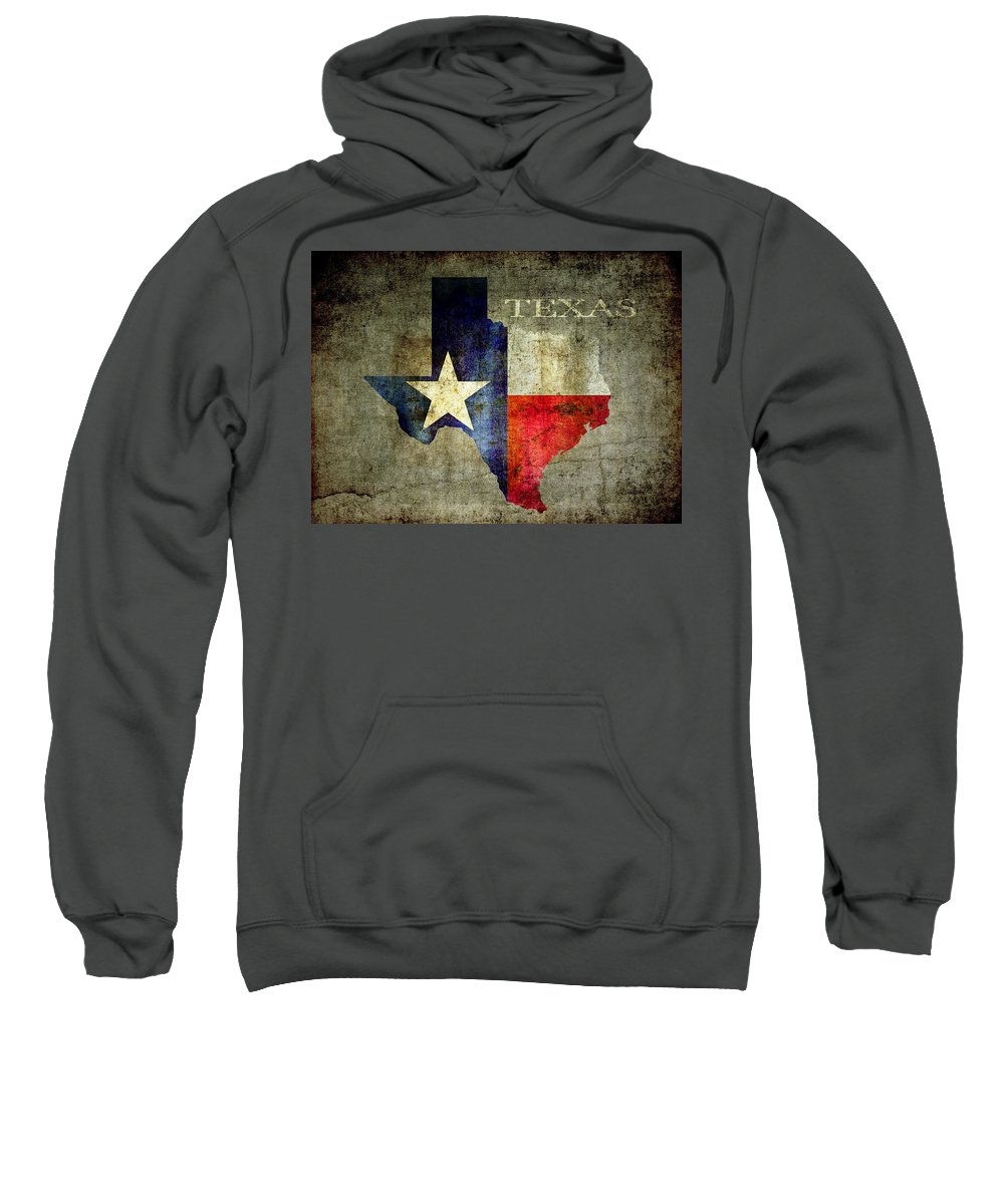 Texas Sweatshirt featuring the digital art Hello Texas by Daniel Hagerman