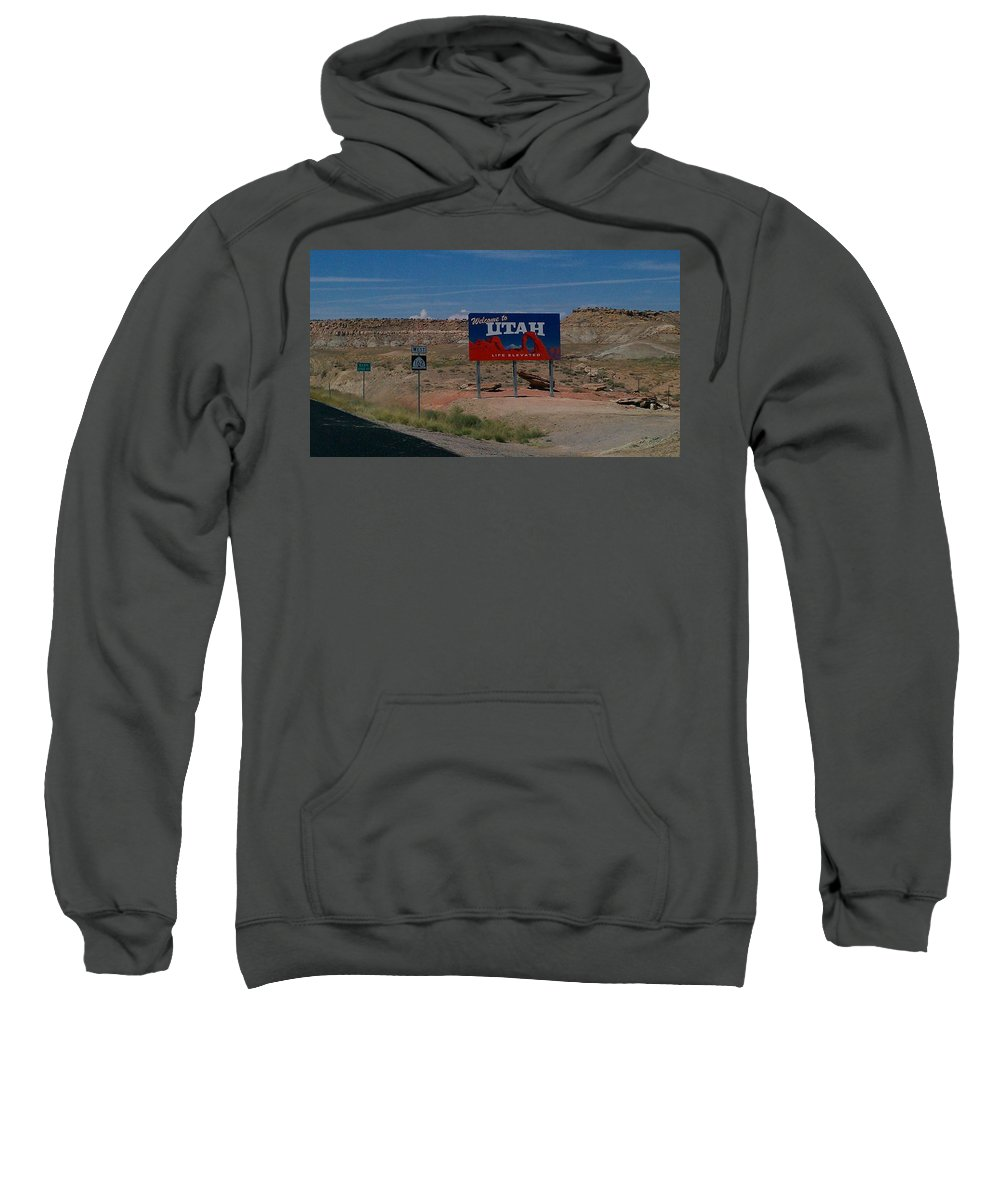 Landscape Sweatshirt featuring the photograph Here's Utah by Fortunate Findings Shirley Dickerson