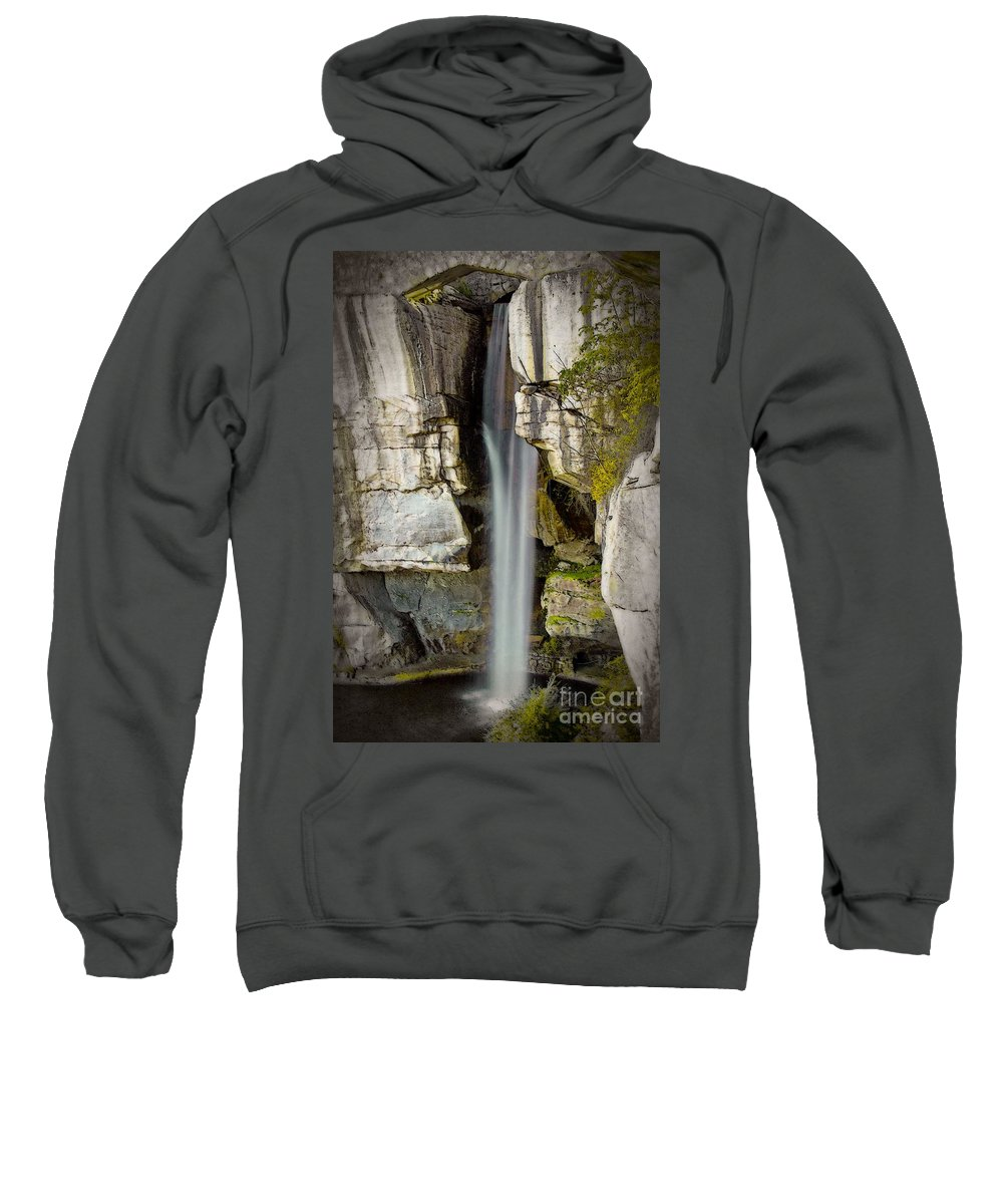 Water Fall Sweatshirt featuring the photograph High Falls At Rock City by Tom Gari Gallery-Three-Photography