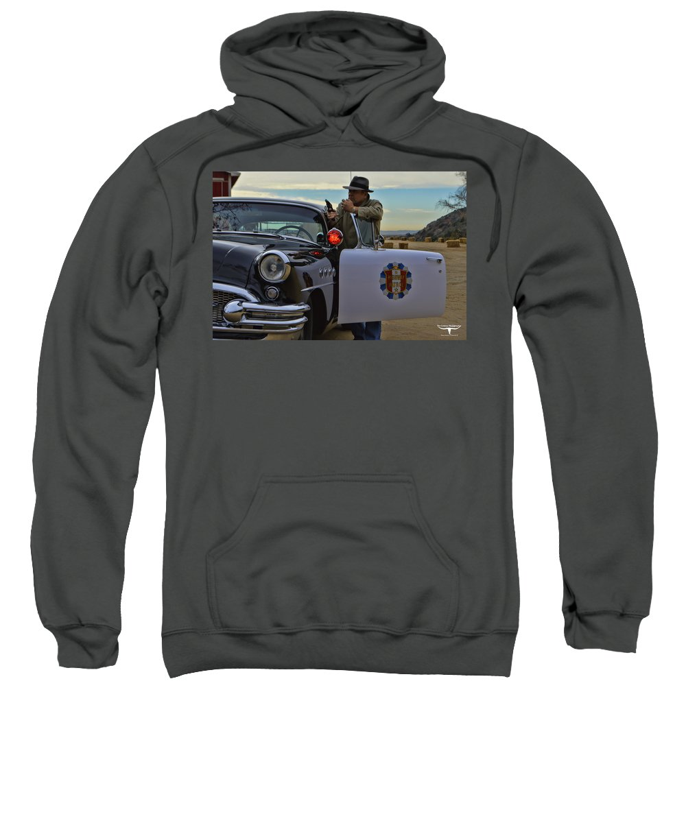 Highway Patrol Sweatshirt featuring the photograph Highway Patrol 6 by Tommy Anderson