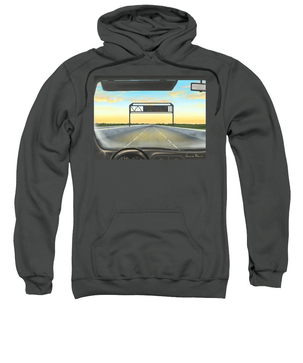 Ipad Sweatshirt featuring the painting Highway by Veronica Minozzi
