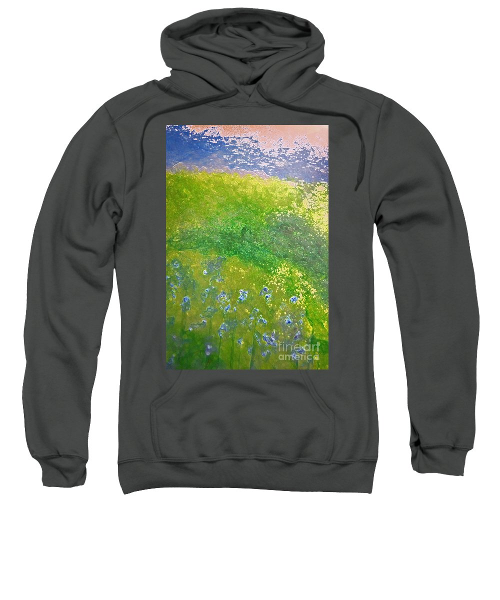 First Star Art Sweatshirt featuring the painting Hillside By Jrr by First Star Art