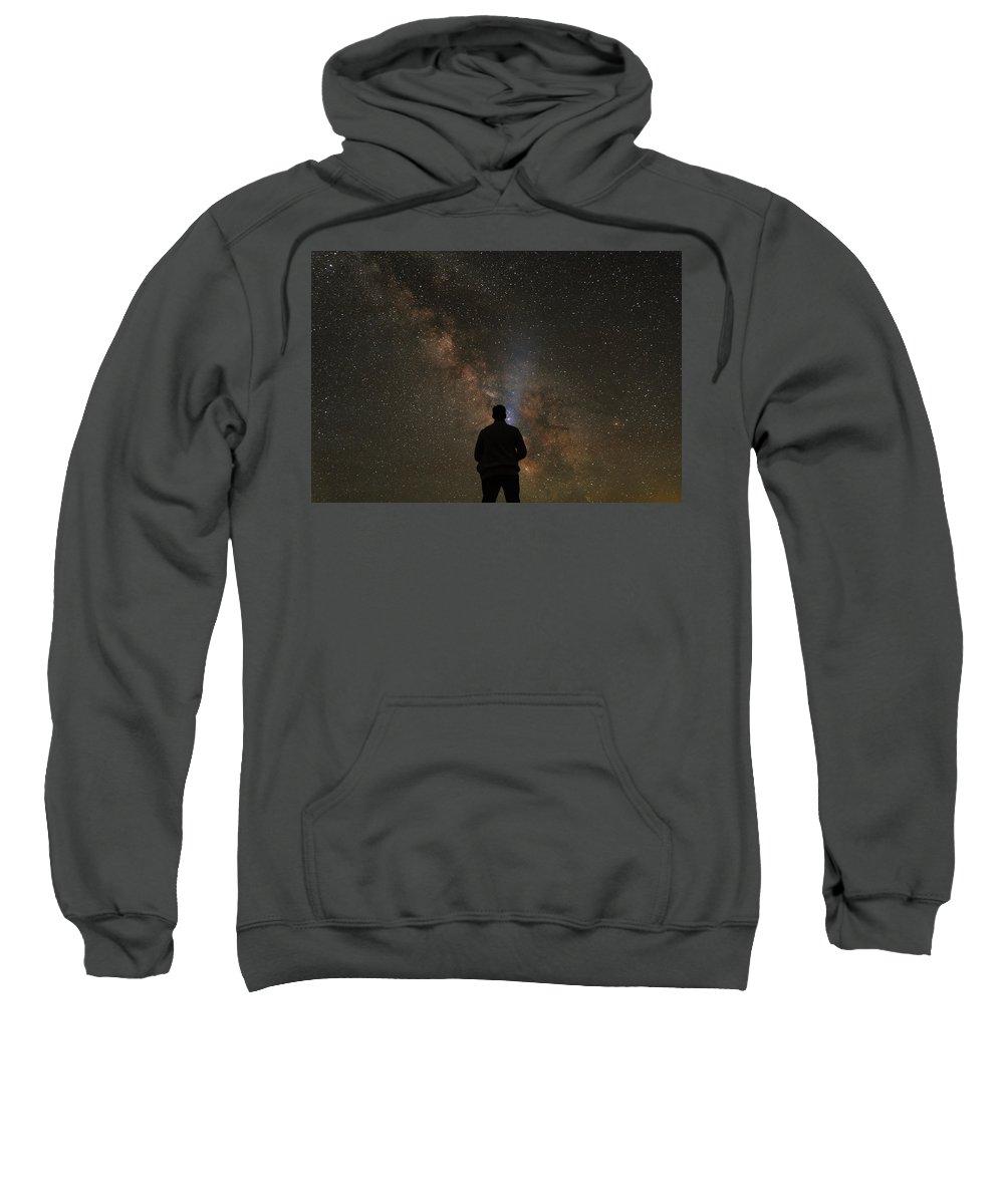 Grand Teton Sweatshirt featuring the photograph Hit The Lights by Kristopher Schoenleber