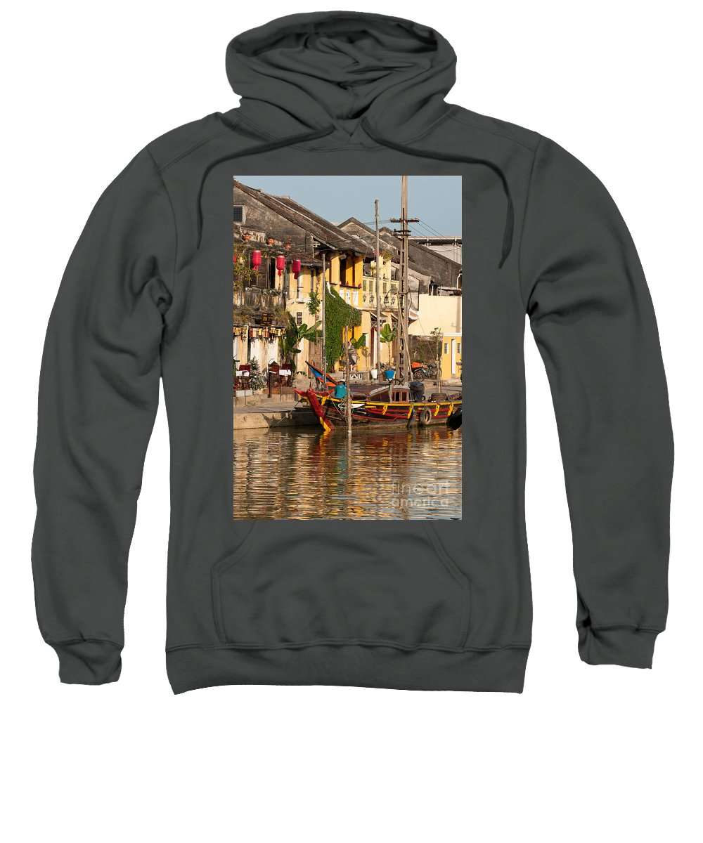 Vietnam Sweatshirt featuring the photograph Hoi An Fishing Boat 02 by Rick Piper Photography