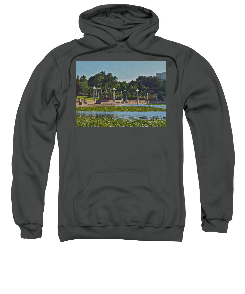 Garden Sweatshirt featuring the photograph Hollis Gardens II by Carol Bradley