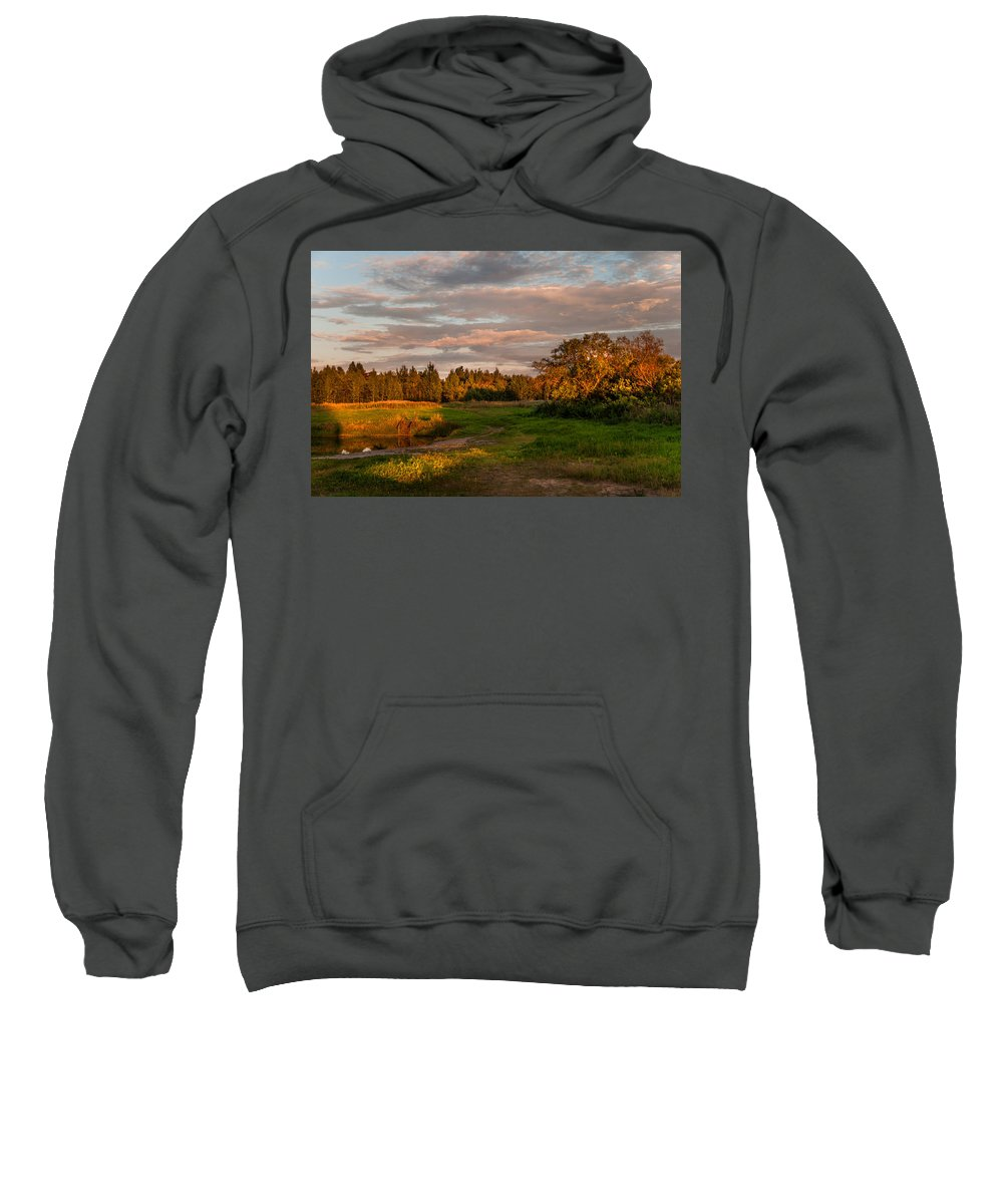 Landscape Sweatshirt featuring the photograph Holy Place. Karelia by Jenny Rainbow
