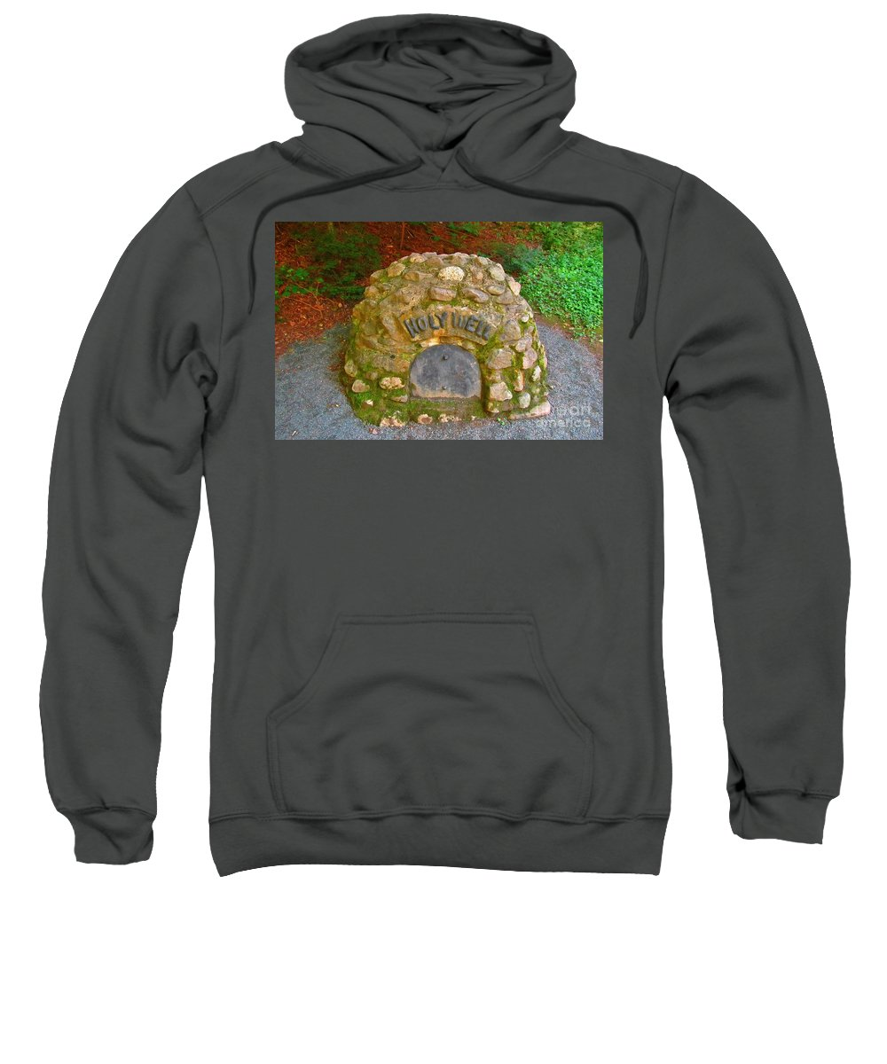 Holy Well Sweatshirt featuring the photograph Holy Well by John Malone