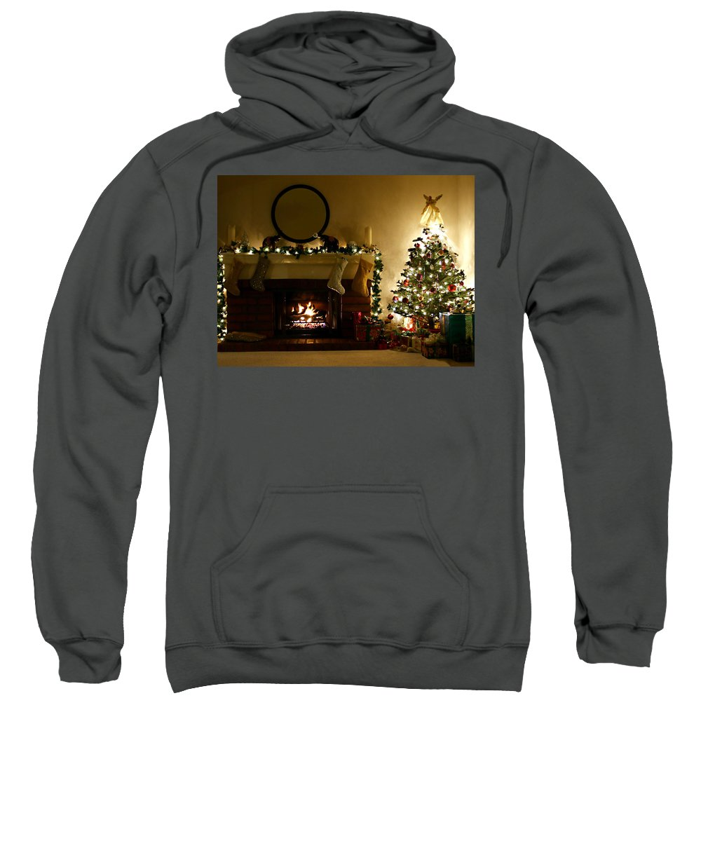 Home For The Holidays Sweatshirt featuring the photograph Home For The Holidays by Ellen Henneke