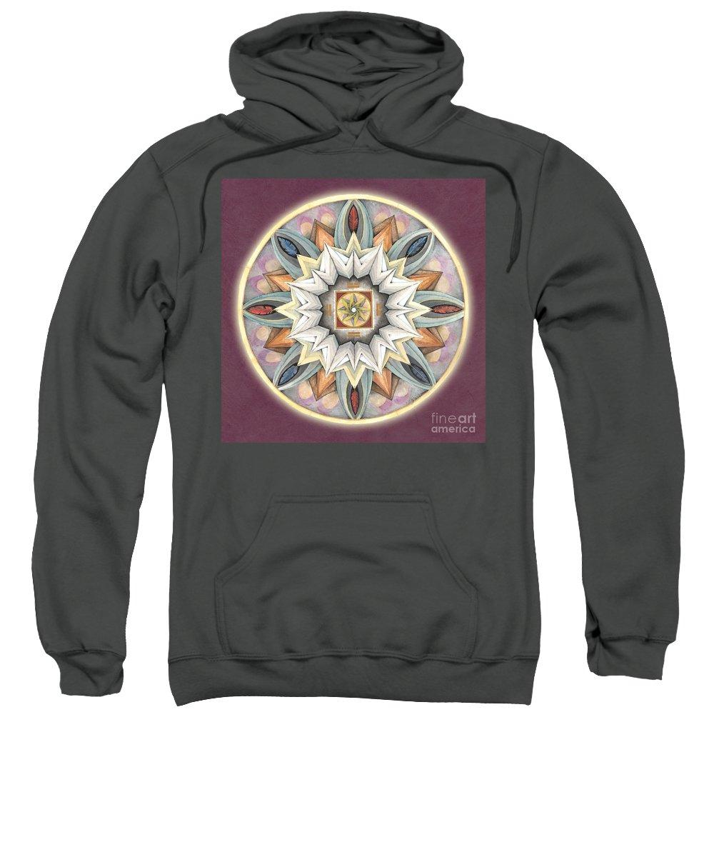 Mandala Art Sweatshirt featuring the painting Honor Mandala by Jo Thomas Blaine