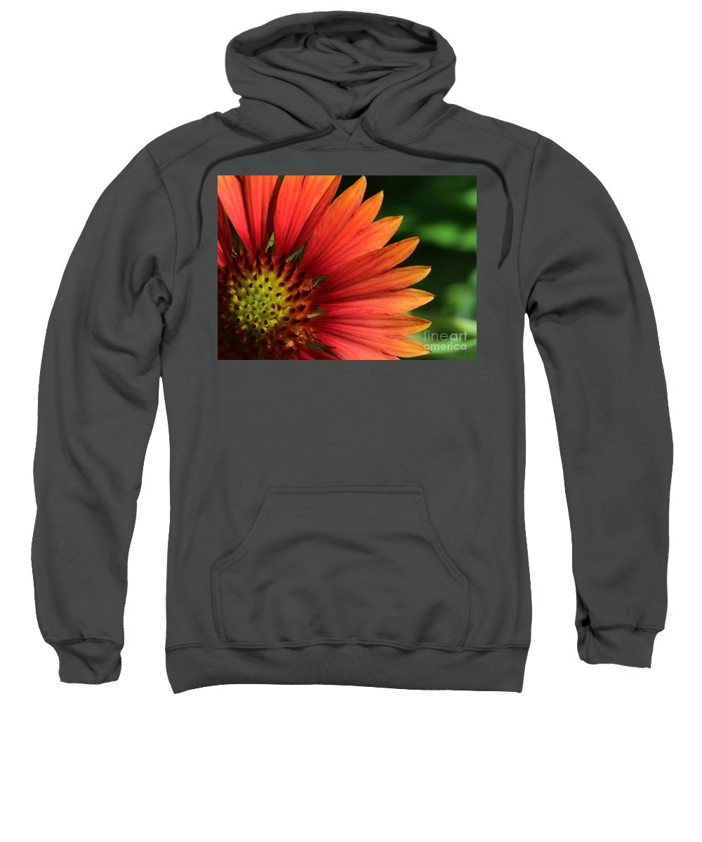 Flower Sweatshirt featuring the photograph Hot Flames by Sabrina L Ryan