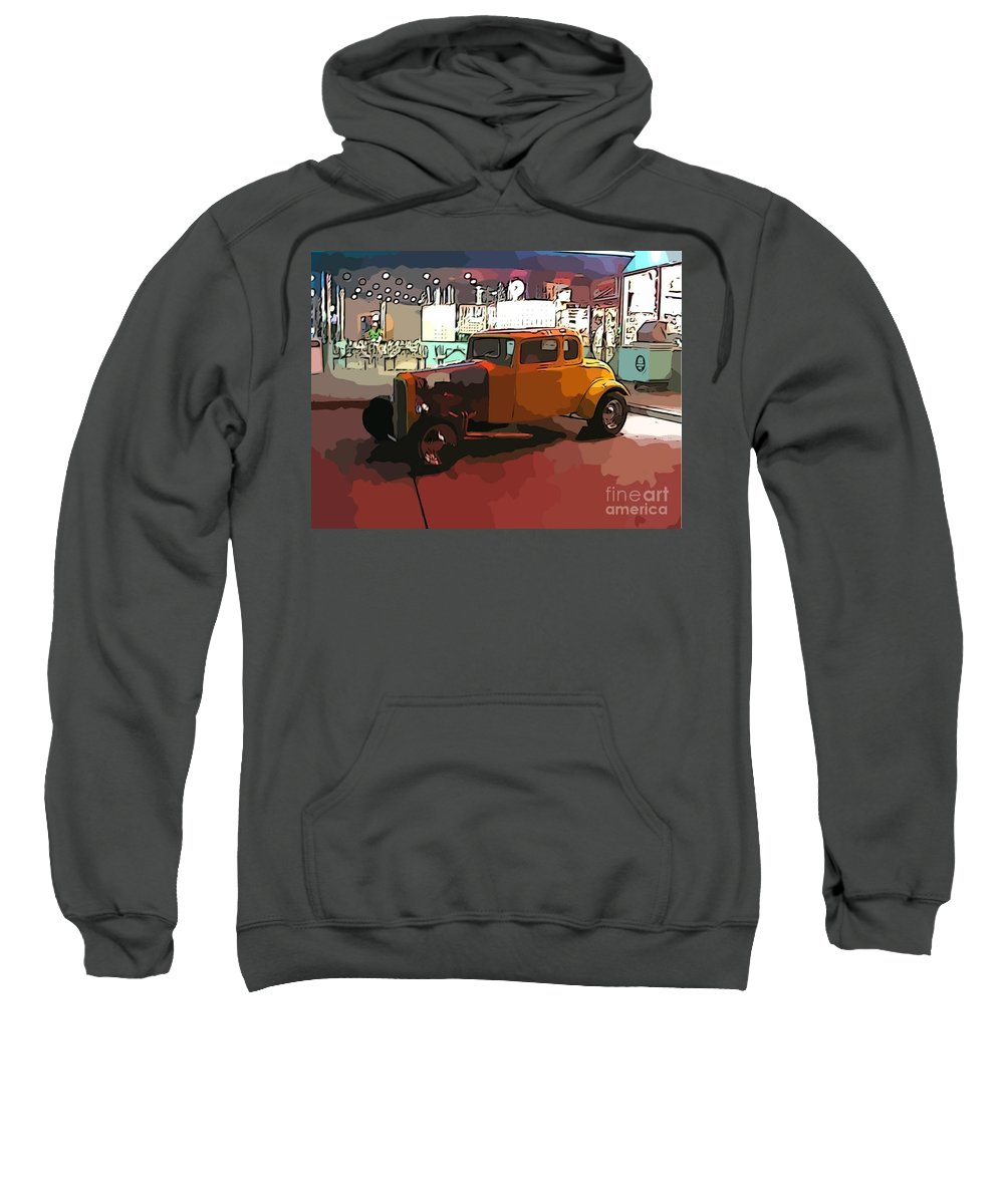 Hot Rod Icon Sweatshirt featuring the photograph Hot Rod Icon by John Malone