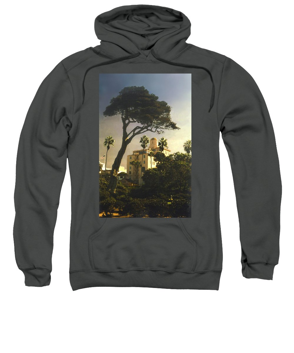 Landscape Sweatshirt featuring the photograph Hotel California- La Jolla by Steve Karol
