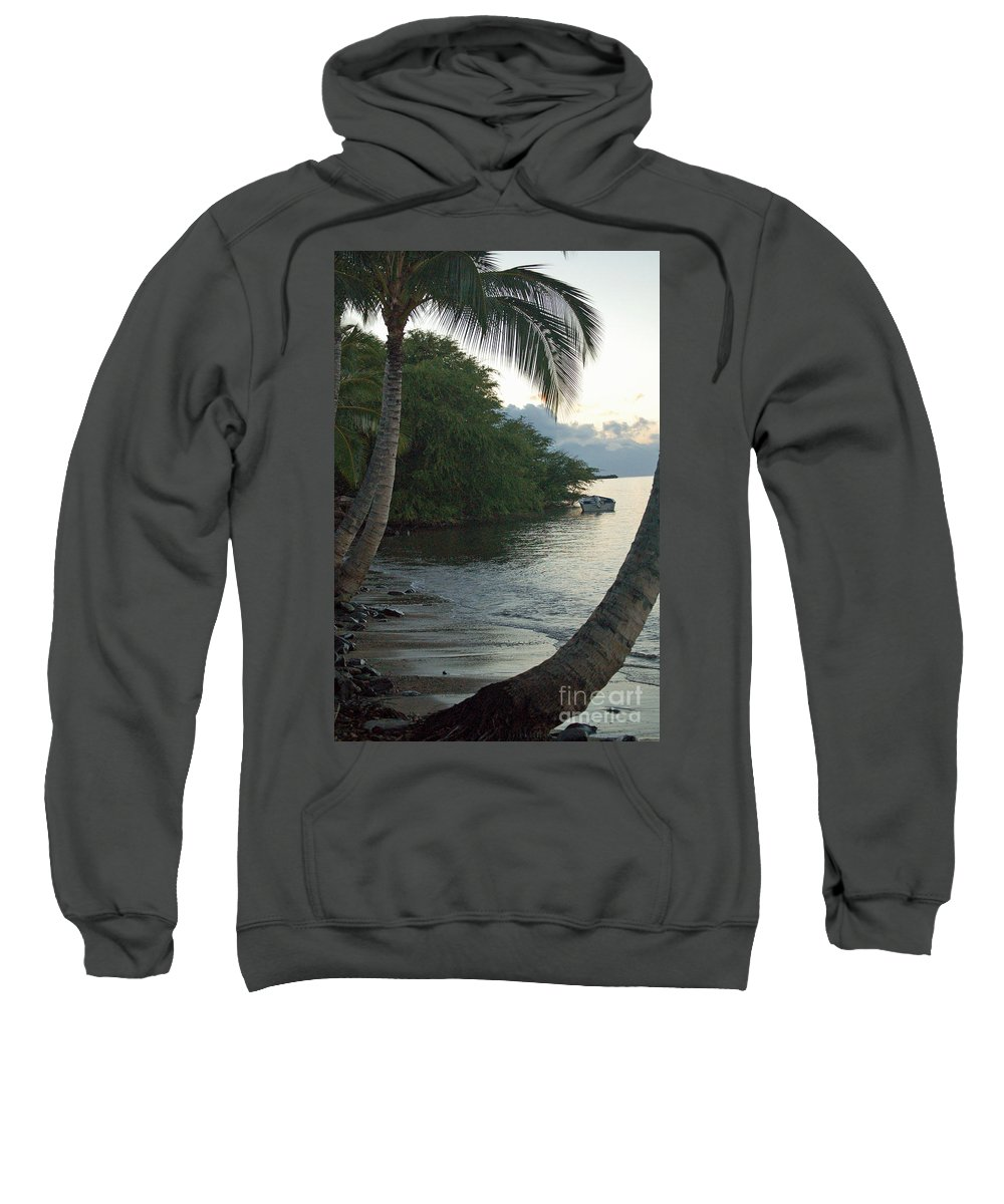 Sand Sweatshirt featuring the photograph Hotel Molokai Beach by Terry Holliday