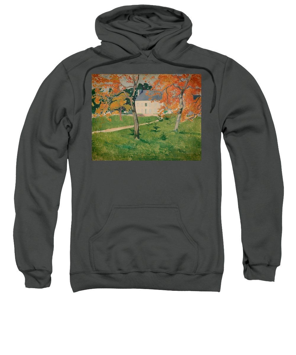 Painting Sweatshirt featuring the painting House Among Trees by Mountain Dreams