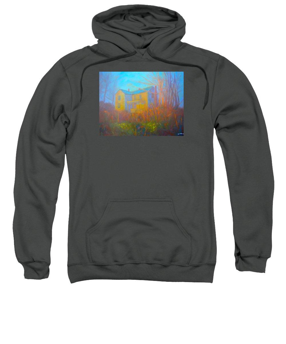 Blacksburg Paintings Sweatshirt featuring the painting House In Blacksburg by Kendall Kessler