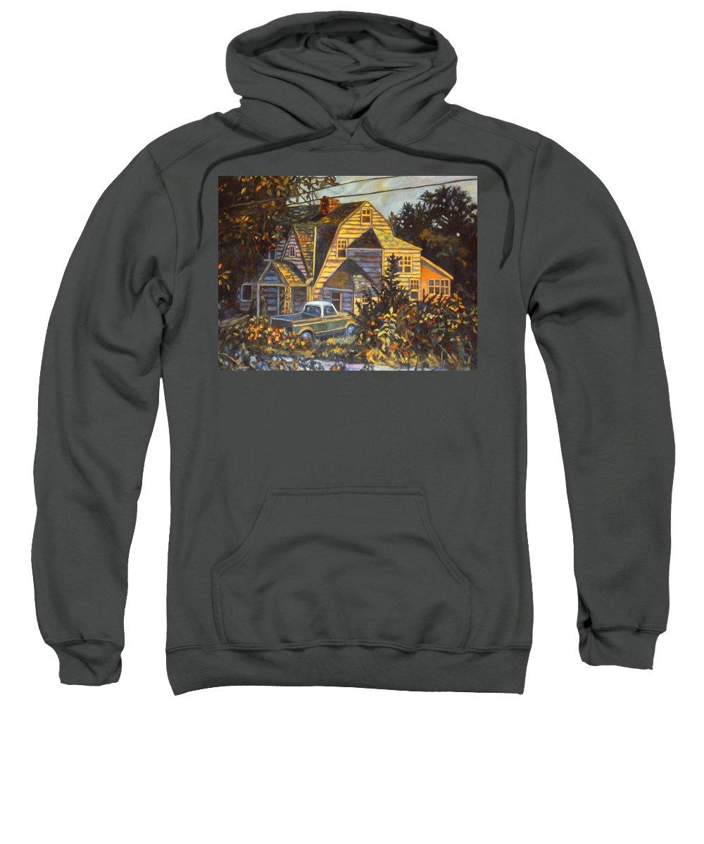Kendall Kessler Sweatshirt featuring the painting House In Christiansburg by Kendall Kessler