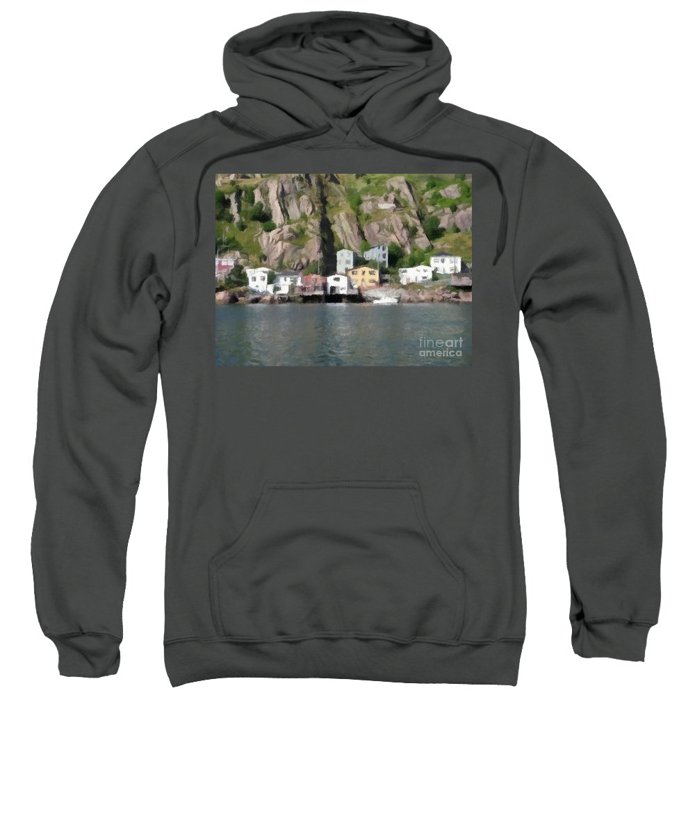 Houses With Expressive Brushstrokes Sweatshirt featuring the photograph Houses With Expressive Brushstrokes by Barbara Griffin