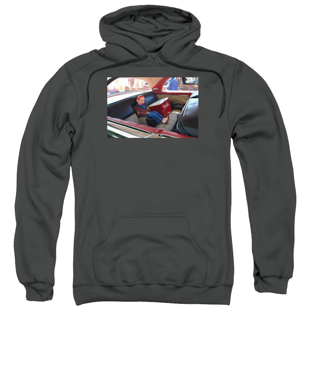 Classic Car Sweatshirt featuring the photograph Howdy by Marvin Borst