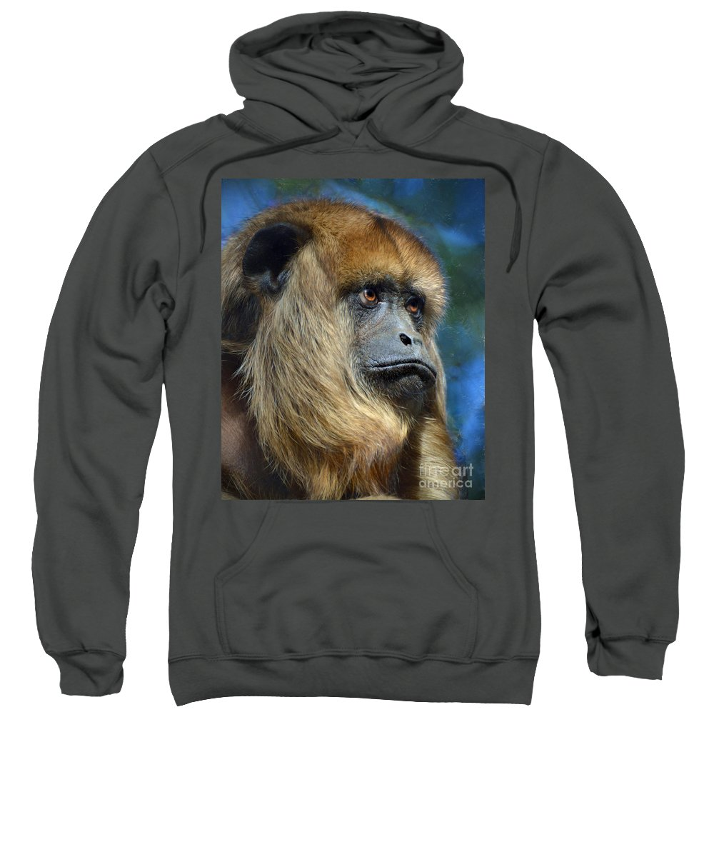 Howler Monkey Sweatshirt featuring the photograph Howler Monkey by Savannah Gibbs