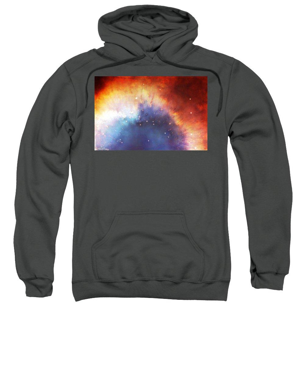 Wright Sweatshirt featuring the photograph Hubble - Helix Nebula Comet - Like Filaments by Paulette B Wright