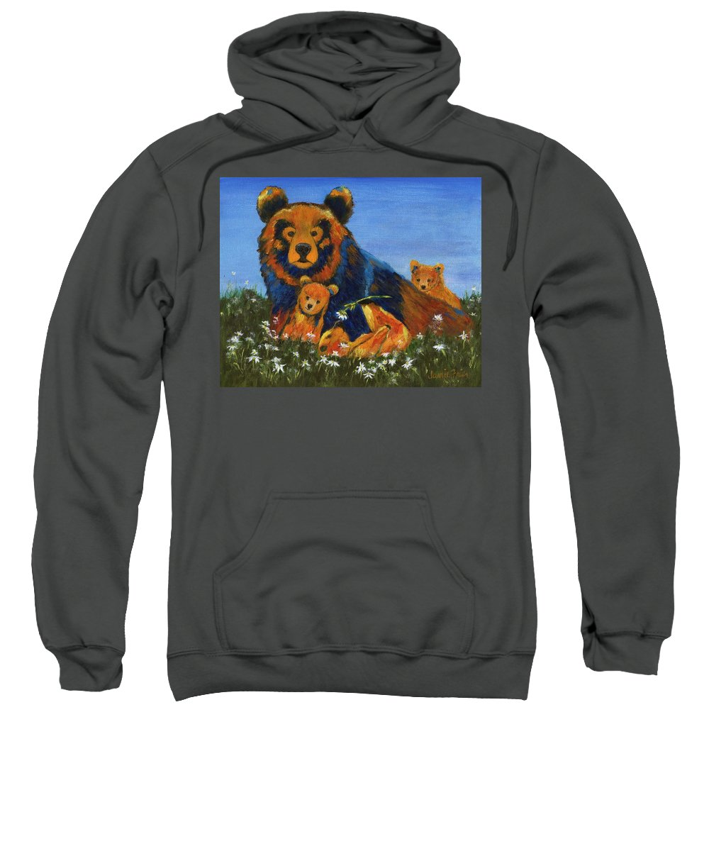 Nature Sweatshirt featuring the painting I Dare You by Jamie Frier