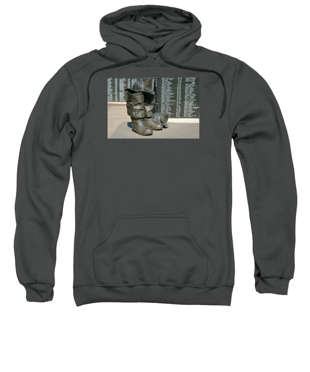 Iaff Sweatshirt featuring the photograph Iaff Fallen Firefighters Memorial 1 by Susan McMenamin