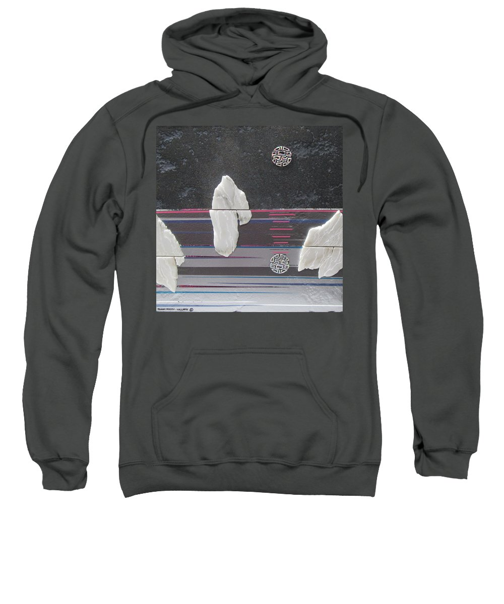 Assemblage Sweatshirt featuring the mixed media Ice Bergs by Elaine Booth-Kallweit