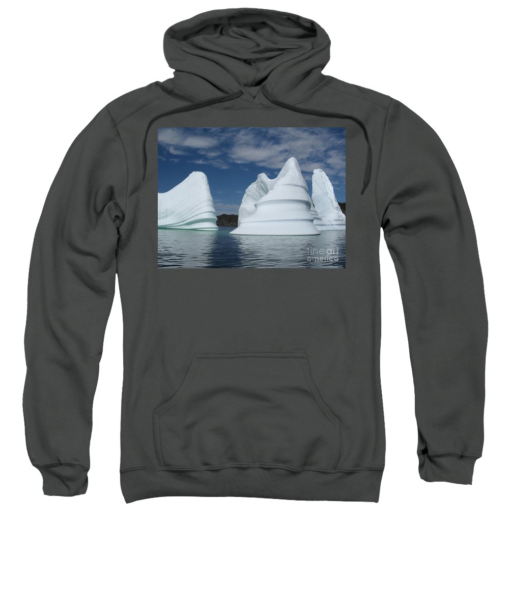 Iceberg Newfoundland Sweatshirt featuring the photograph Icebergs by Seon-Jeong Kim