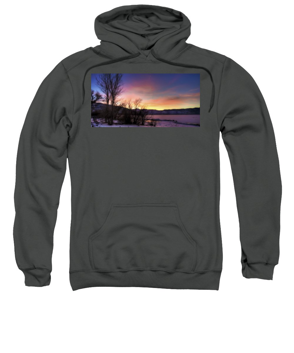 Ice Sweatshirt featuring the photograph Icy Sunset by Dianne Phelps