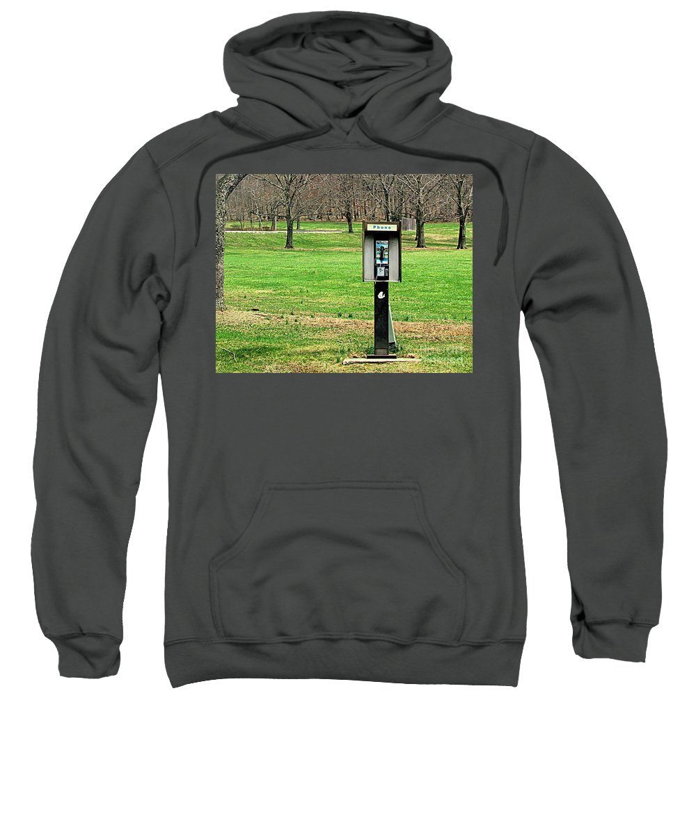Phone Sweatshirt featuring the photograph If A Phone Rings In The Forest by Lori Pessin Lafargue