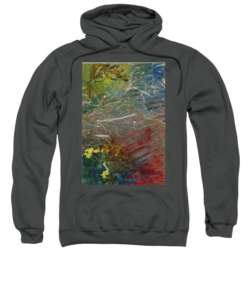 Know Sweatshirt featuring the mixed media If I Had Only Known by Cindy Johnston
