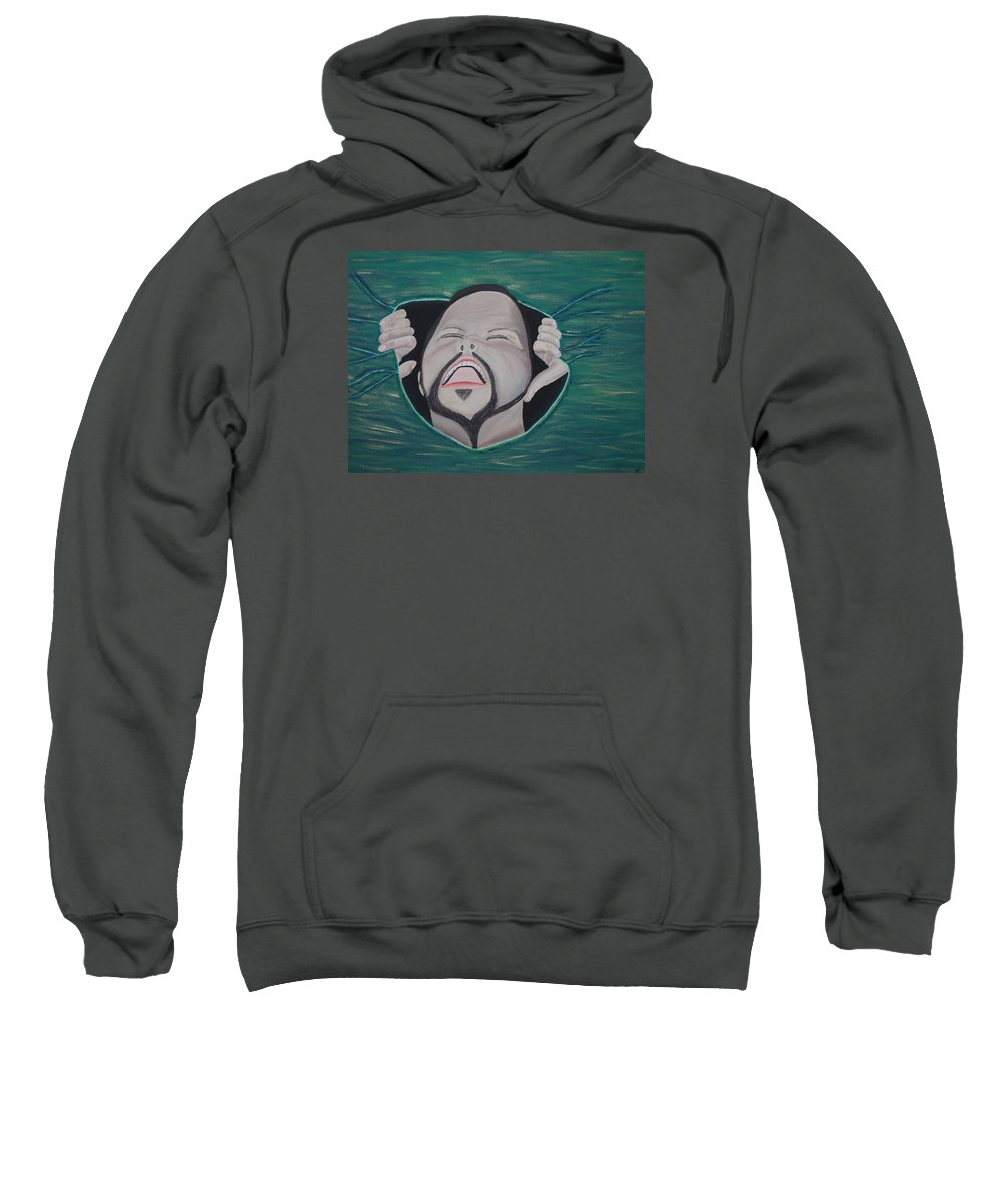 Arist Sweatshirt featuring the painting Im Not Insane It Is Greener by Dean Stephens